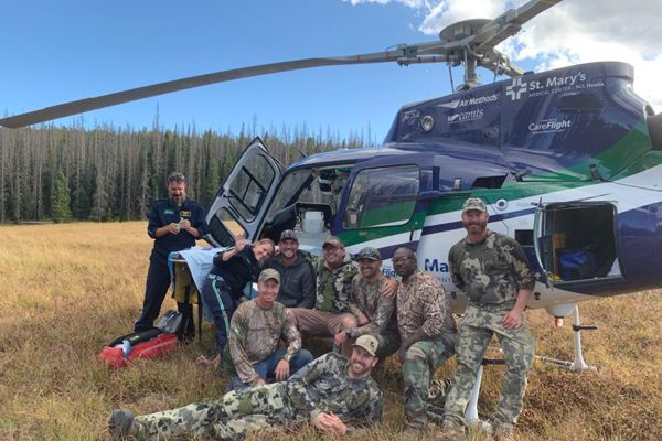 Deputies Scott Brettell, Chad Wheat, Peter Gaffney (RET) and Lieutenant Eric Carnell are being credited with saving the life of an Arkansas man named Mason Young in the deep woods.