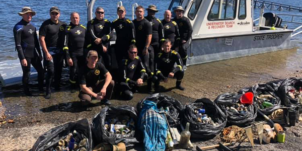The Oklahoma Highway Patrol dive team recently conducted a two-day training beneath in Tenkiller...