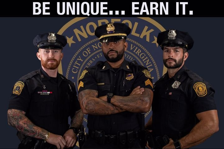 The Norfolk (VA) Police Department announced on Monday that it is ending its restrictions on full facial hair and visible tattoos.