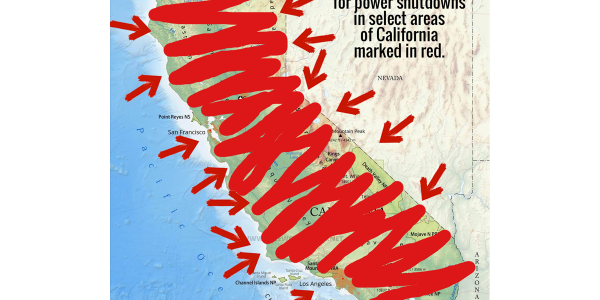 Pleasanton PD posted an image of the state of California on its Facebook page marking in red the...