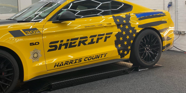 A man from the United Kingdom is paying tribute to the service of Harris County (TX) Deputy...