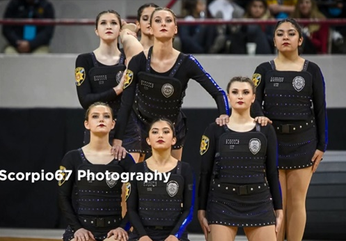 """The high school """"pom team"""" in Highlands Ranch, CO, has created a performance that is intended to honor fallen law enforcement officers and their families.  - Photo: KDVR-TV screenshot"""