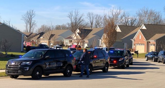 Dozens of officers with the Fishers (IN) Police Department gathered outside the home of Officer Binh Dennis as he was transported from a nearby hospital to his residence, where he will continue to recover from an off-duty motorcycle accident that left him badly injured.