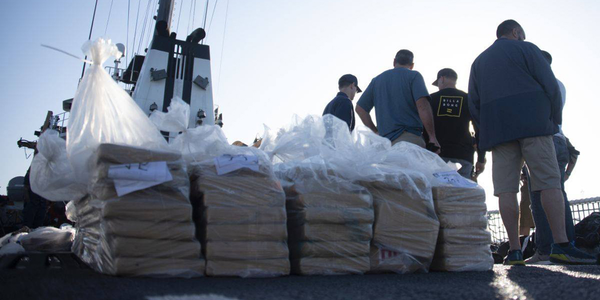 The Coast Guard Cutter Alert crew offloaded more than 6,800 pounds of cocaine, worth an...