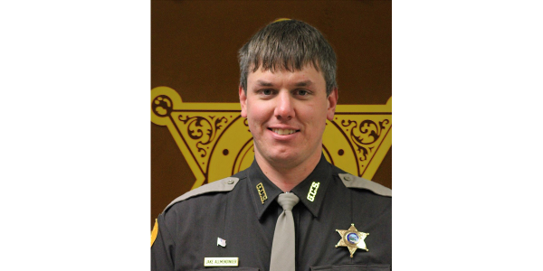 Deputy Jake Allmendinger died on Saturday night after being struck by his patrol vehicle as it...