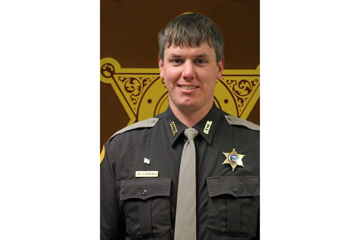 Deputy Jake Allmendinger died on Saturday night after being struck by his patrol vehicle as it slipped on an icy road surface.