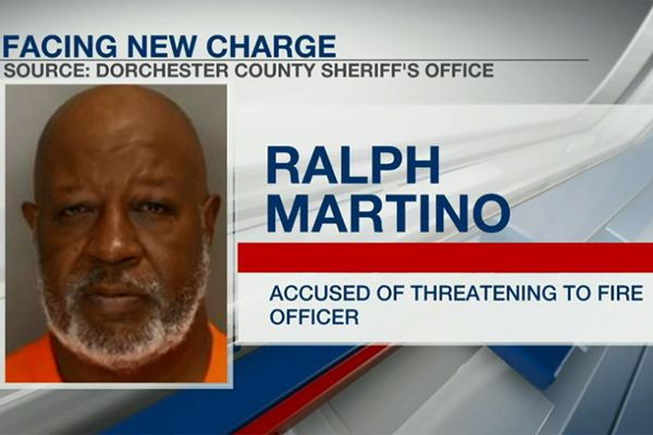 Agents with the South Carolina Law Enforcement Division arrested 66-year-old Ralph Martino and charged him with third degree assault and battery as well as misconduct in office.  - Screen grab of news report by WCSC-TV.