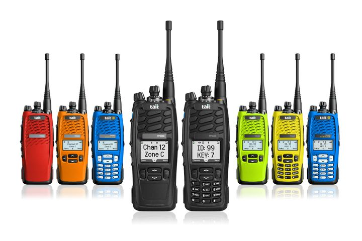 Tait Communications TP9500 and TP9600 Portable Radios - Photo: Tait Communications