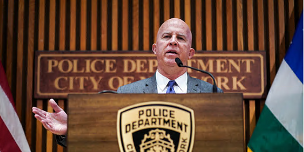 NYPD Commissioner James O'Neill has resigned.