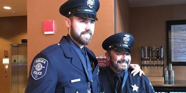 Officer Adam Miller, left, and Officer Rey Rivera were honored Apr. 29 for their actions during...