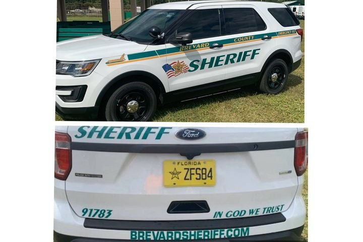 "The Sheriff of the Brevard County Sheriff's Department in Florida took to social media to defend his decision to place ""In God We Trust"" decals on the patrol vehicles in the agency's fleet as aging vehicles are replaced with new ones. - Image courtesy of Brevard County Sheriff's Department / Facebook."