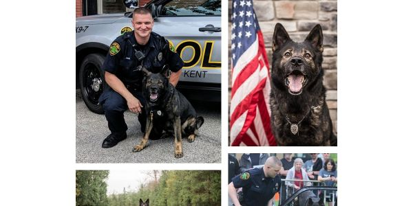 The Kent (OH) Police Department announced on social media on Tuesday that a beloved K-9 named...