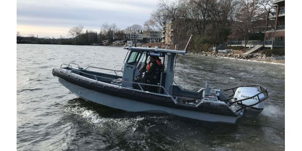 This patrol craft from Lake Assault Boats will be on display at the International WorkBoat Show...