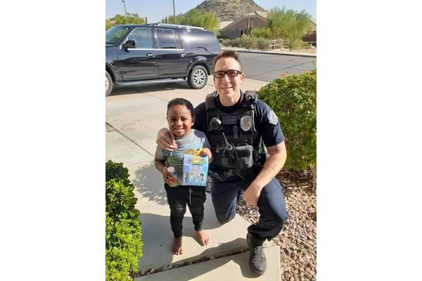 A five-year-old boy in Arizona called 911 with what to a child that age might consider an emergency: he wanted a McDonald's Happy Meal. - Image corutesty of Mesa PD / Facebook.