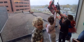 Toledo SWAT Officers Dress as Superheroes, Rappel Down Children's Hospital to Entertain Kids on Halloween