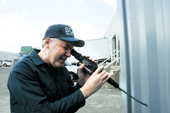 Zistos' ExplorerSCOPEis a 9mm diameter videoscope that allows an inspector to make a complete visual assessment of the interior of shipping containers, trailers and other cargo vessels without opening doors or hatches. (Photo: Zistos)  -