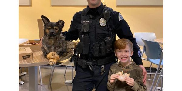 Cassandra Berg and her family bought a stuffed animal that looks just like K-9 Lemon to gift his...