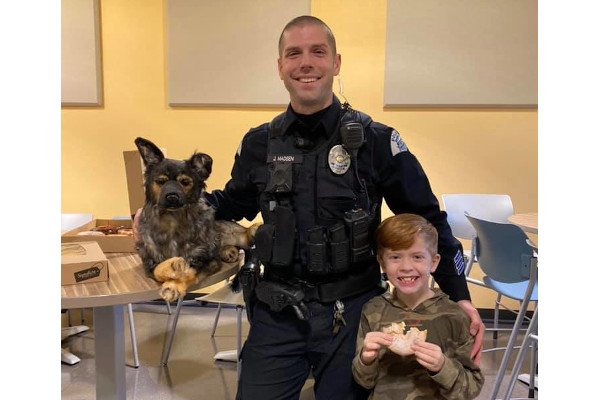 Video: Family Gives Grieving Washington Officer Stuffed Facsimile of K-9