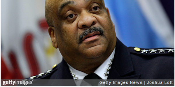Chicago Police Superintendent Eddie Johnson, shown announcing his retirement, has been fired.