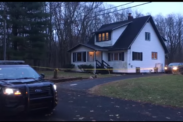 Three Michigan officers were shot and wounded and a homeowner killed by an intruder. - Photo: mlive.com screenshot