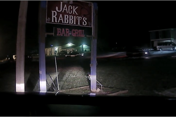 A former West Virginia trooper has been acquitted of federal charges in a case of alleged excessive force that began with a call at a local bar called Jack Rabbit's. - WV MetroNews video screenshot