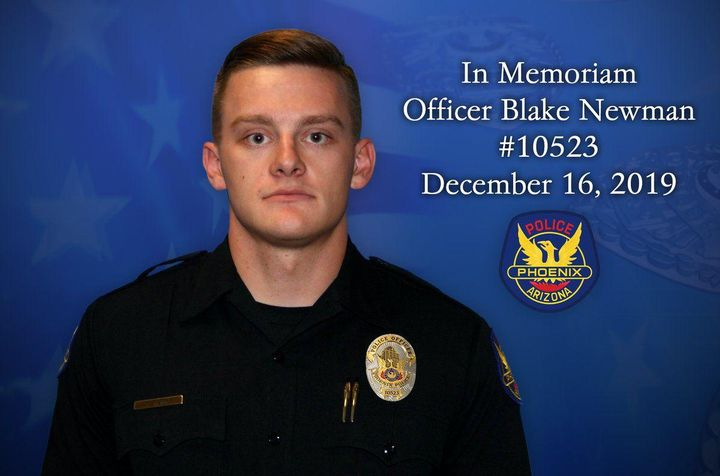 Phoenix Police Officer Blake Newman was killed Monday night in an off-duty motorcycle crash. (Photo: Phoenix PD) -