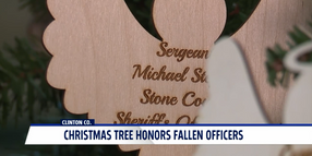 Indiana Agency's Christmas Tree Honors Fallen Officers