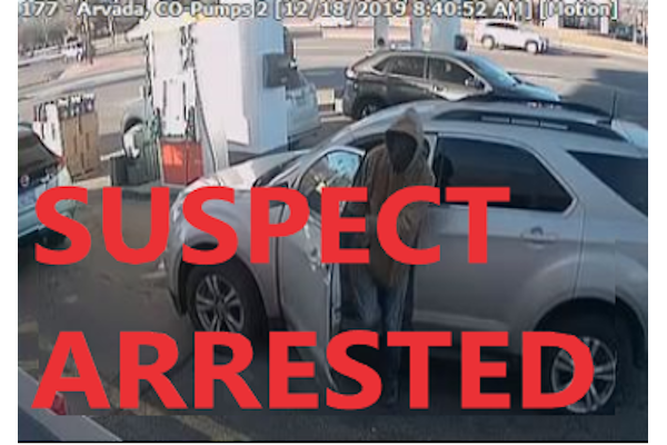 The man suspected of shooting an off-duty Denver PD officer has been arrested. - Photo: Arvada (CO) PD / Facebook