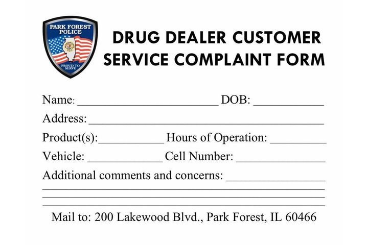 The Park Forest (IL) Police Department had some fun on social media with a post that sought to lure unsuspecting users of illegal drugs to send the agency information on their dealer's location and contact information. - Image courtesy of Park Forest (IL) Police Department / Facebook.