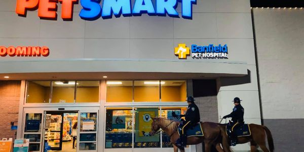 Customers at a pet supply store in a suburb of New Orleans were treated to an unusual sight over...
