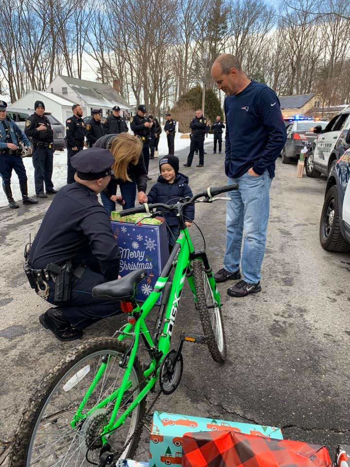 Massachusetts Officers Team Up to Provide Christmas Surprise for Murder Victim's Toddler