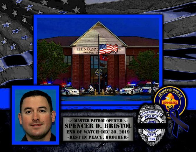 Officer Spencer Bristol of the Hendersonville, TN, police was struck by a vehicle and killed during a foot pursuit on I-65 Monday. (Photo: Hendersonville PD/Facebook) -