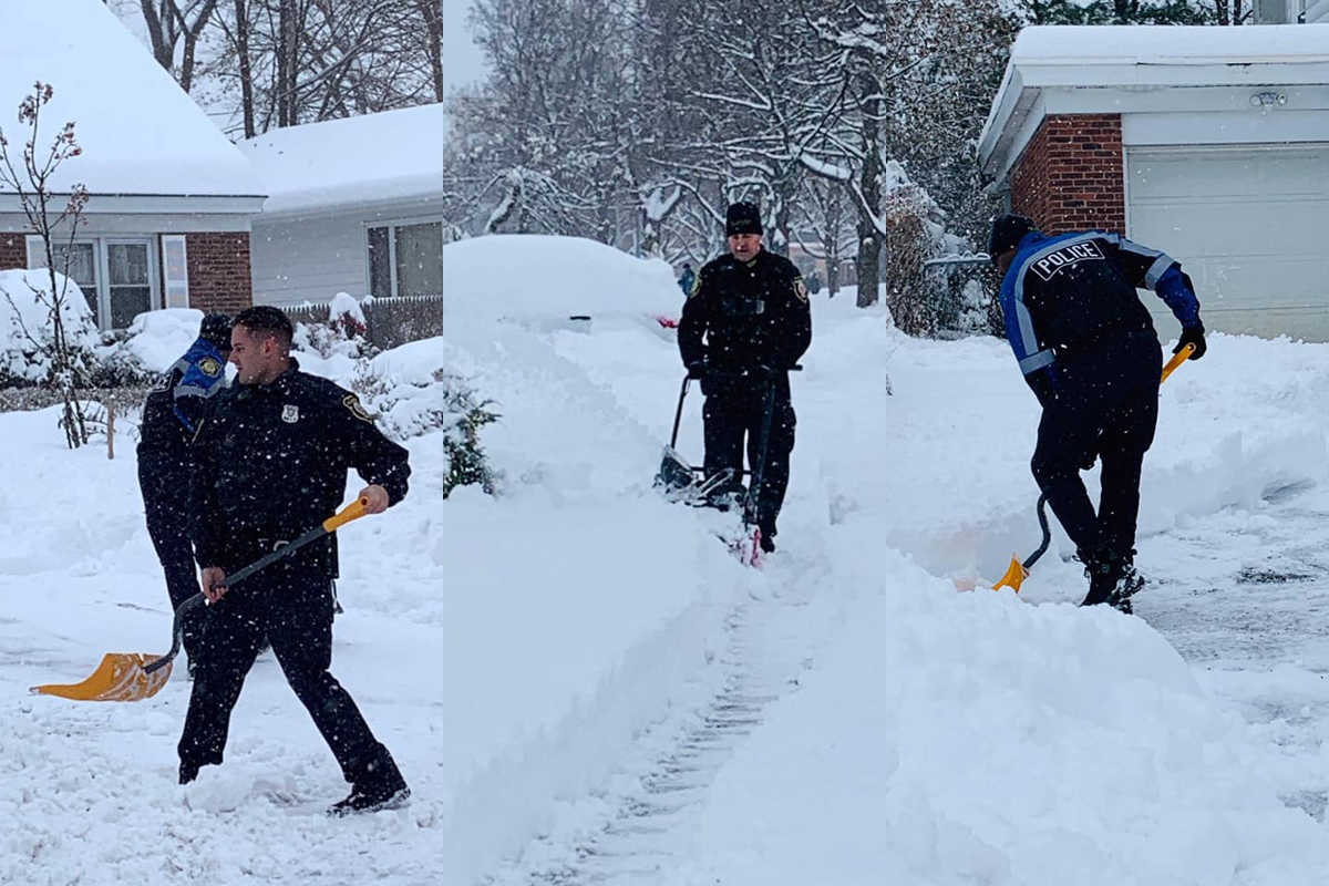New York Officers Shovel Driveway of 99-Year-Old Woman