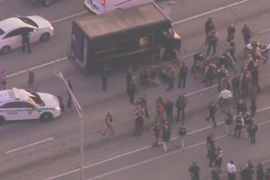 4 Dead Following Police Gunfight with Armed Robbery Suspects in Stolen UPS Truck