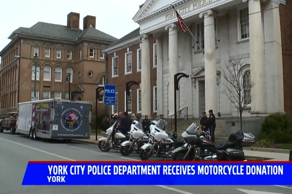 Charitable Foundation Donates New Motorcycle to Pennsylvania Department