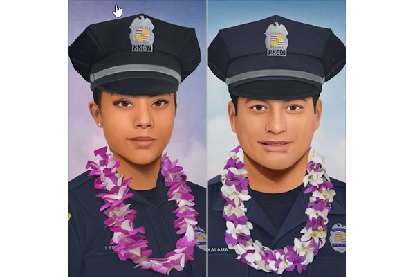 Philadelphia Officer Paints Portraits of Slain Hawaii Officers