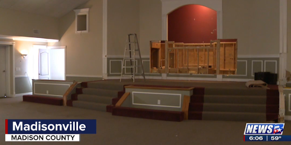 The city is remodeling a vacant church building it owns to turn it into the new Madisonville...