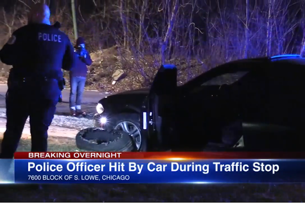 Video: Chicago Officer Struck by Vehicle During Traffic Stop