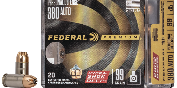 New Federal Premium Hydra-Shok Deep 380 Auto is scheduled to ship in the Spring of 2020.