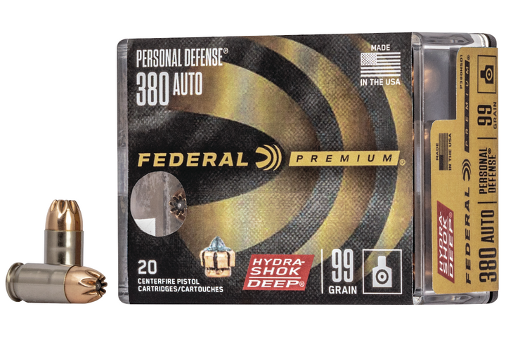 New Federal Premium Hydra-Shok Deep 380 Auto is scheduled to ship in the Spring of 2020. - Photo: Federal Premium