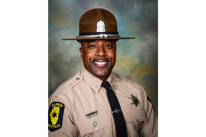 A woman entered a cigar bar in Illinois on Friday evening and opened fire on a group of patrons, including retired Illinois State Police Trooper Gregory Rieves, who succumbed to his injuries. - Image courtesy of Illinois State Police / Facebook.