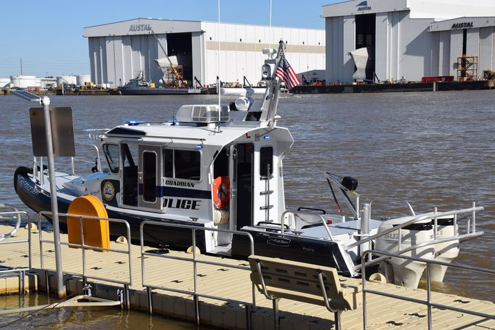 "The Mobile (AL) Police Department has added a new asset to its marine unit with the purchase of a new 34-foot police boat dubbed ""Guardian."" - Image courtesy of Mobile PD / Facebook."