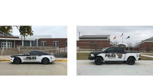 Two school resource officers with the Jasper (IA) Police Department are now outfitted with two...