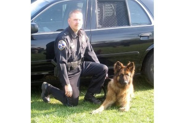 Officers with the Germantown (WI) Police Department are mourning the loss of a retired K-9—the second in the agency's history—after its passing over the weekend. - Image courtesy of Germantown PD / Facebook.