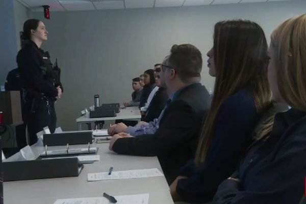 The Wichita (KS) Police Department has a total of 12 female recruits in its latest academy class—the most women ever in a single recruiting round—up from eight women in last year's batch of would-be WPD officers. - Screen grab of KWCH-TV news report.