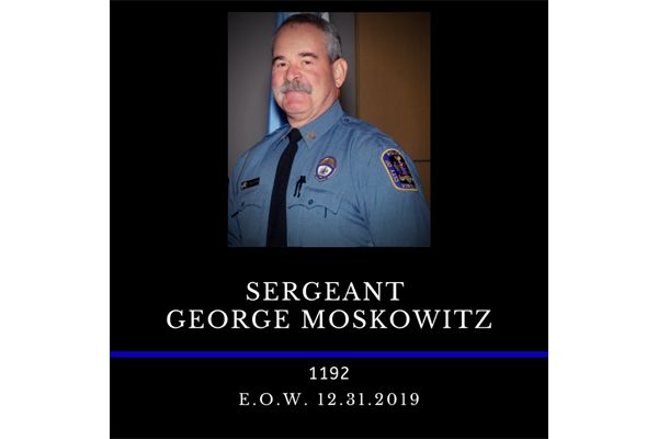 Officer George Moskowitz was on duty when he suffered the medical emergency at the Fairfax City Police headquarters, according to the department. - Image courtesy of Fairfax City Police Department / Twitter.
