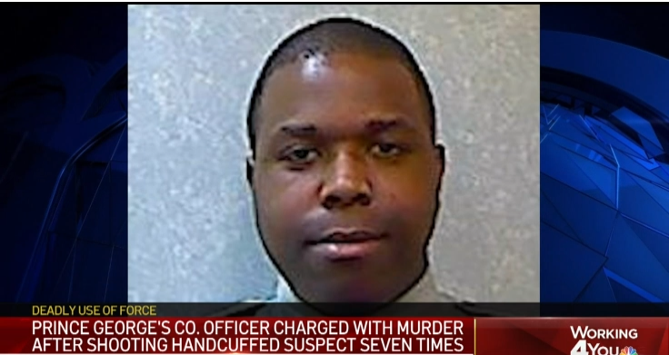 Maryland Officer Charged with Murder in Shooting of Handcuffed Man