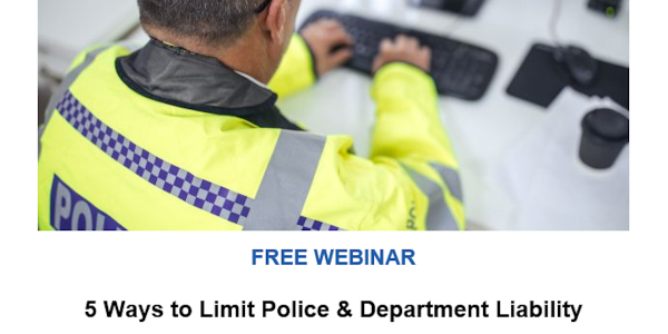 POLICE, TargetSolutions Present Webinar Jan. 30 on Reducing Liability