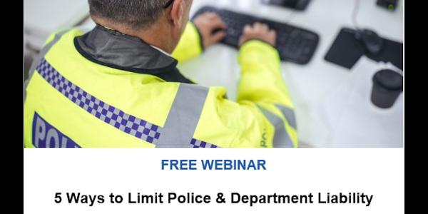 POLICE, TargetSolutions Present Webinar Jan. 30 on Reducing Liability