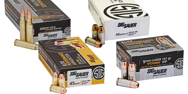 Homeland Security Awards FLETC Ammunition Contract to SIG Sauer